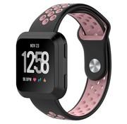 REBL Fitbit Versa bandje - zwart / roze