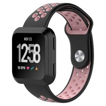 Fitbit Versa bandje - zwart / roze