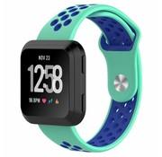 REBL Fitbit Versa bandje - Mint / Blauw