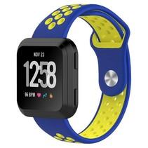 Fitbit Versa bandje - Blauw / Geel