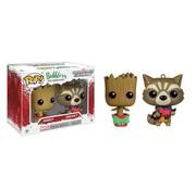 Funko Christmas Groot and Rocket Racoon Mini-Wobbler #341 - Funko POP!