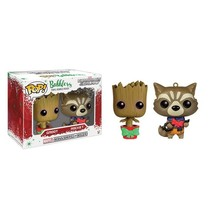 Christmas Groot and Rocket Racoon Mini-Wobbler #341 - Funko POP!