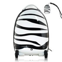 Walking suitcase voor kinderen met zebraprint