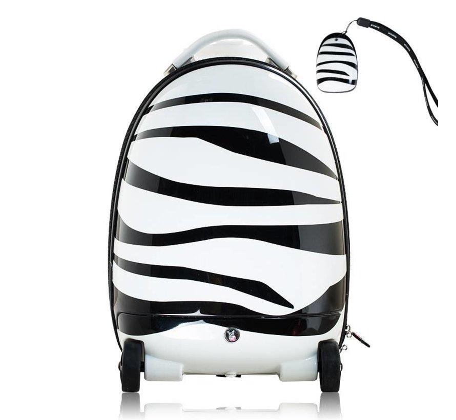 Handbagage koffertje voor kinderen met afstandsbediening - Zebraprint