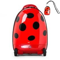 Walking suitcase voor kinderen als Lieveheersbeestje