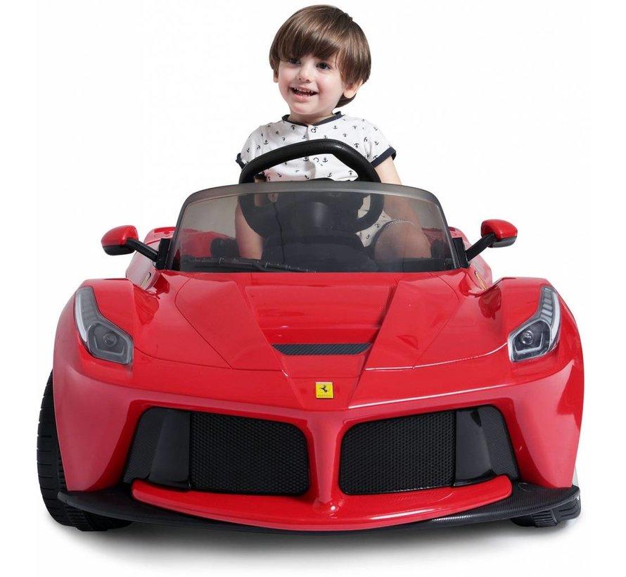 Ferrari LaFerrari Elektrische Kinderauto met afstandsbediening - 12V / 2 Motoren - Rood