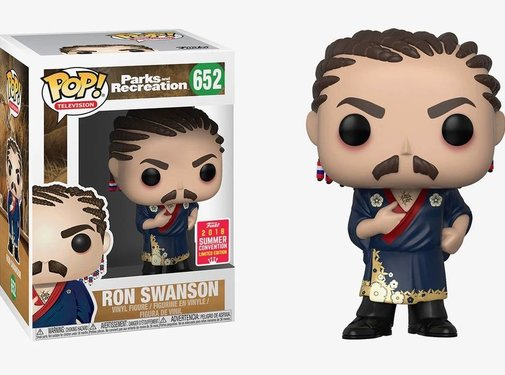 Funko Ron Swanson (Cornrows) SDCC 2018 #652 - Funko POP!