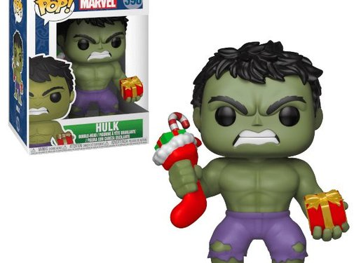 Funko Holiday Hulk with Stocking & Plush #398 - Funko POP!