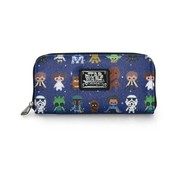 Loungefly Loungefly Star Wars -Star Wars Characters Cutesy AOP Zip Around Wallet / Portemonnee