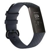 REBL Siliconen Polsbandje - Fitbit Charge 3 - Navy Blauw