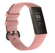 REBL Siliconen Polsbandje - Fitbit Charge 3 - Zalmroze