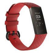 REBL Siliconen Polsbandje - Fitbit Charge 3 - Rood
