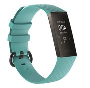 REBL Siliconen Polsbandje - Fitbit Charge 3 - Turquoise