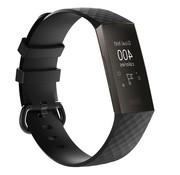 REBL Siliconen Polsbandje - Fitbit Charge 3 - Zwart