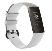 REBL Siliconen Polsbandje - Fitbit Charge 3 - Wit