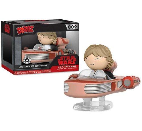 Funko Luke Skywalker with Speeder #009  - Star Wars - Funko Dorbz! - Box Damage