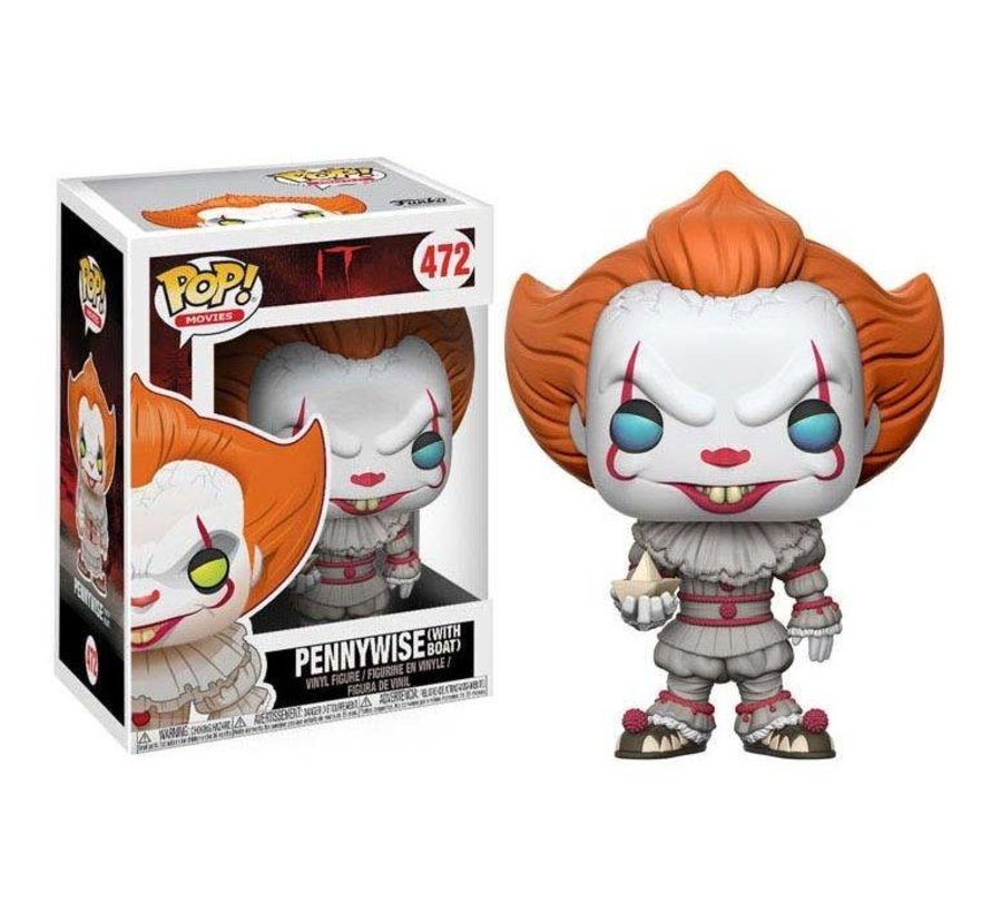 Pennywise with Boat #472  - IT 2017 - Funko POP!