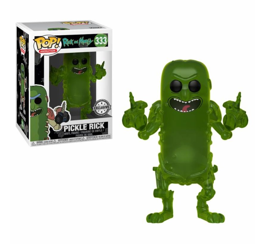 Pickle Rick (translucent) #333 Limited Editie - Rick & Morty - Funko POP!