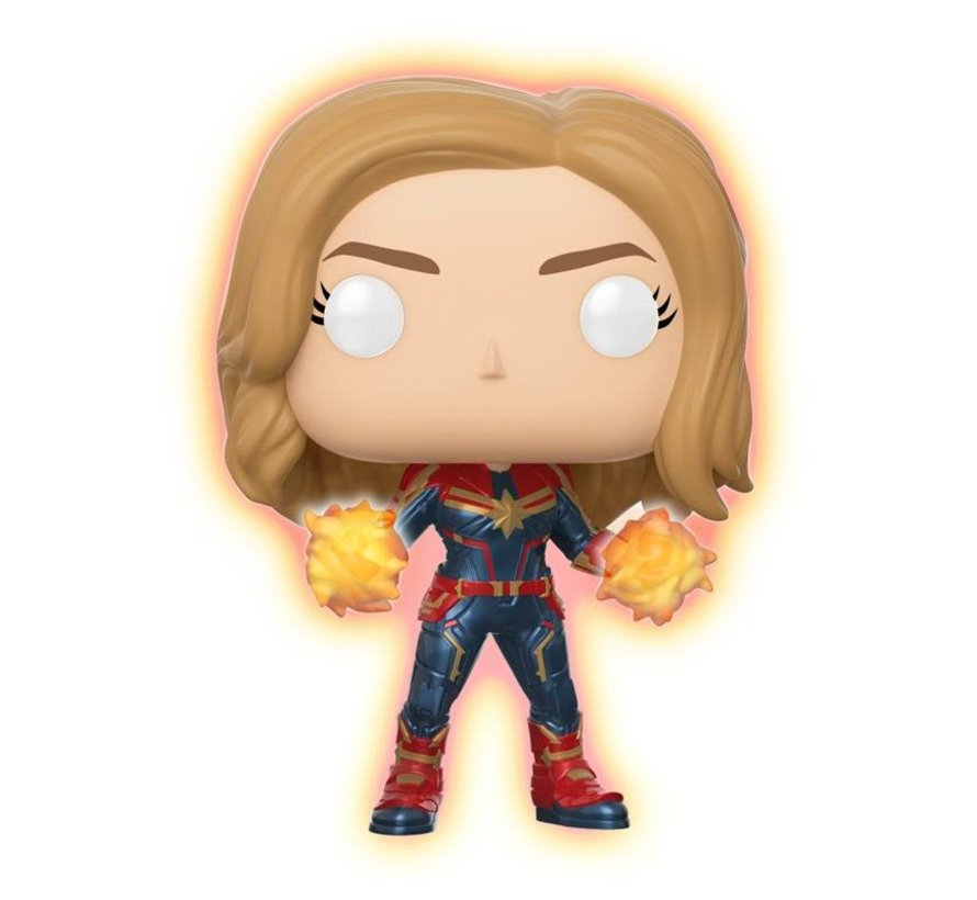 Captain Marvel - Glowing hands #432 Limited Editie - Captain Marvel - Marvel - Funko POP!