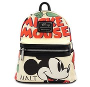 Loungefly Loungefly x Mickey Mouse Classic Print Faux Leather Mini Backpack / Rugtas