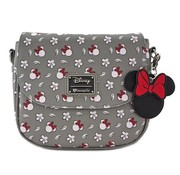Loungefly Loungefly x Minnie Head/Flower Print Grey Crossbody Bag / Handtas