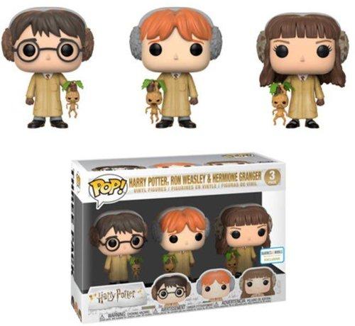 Funko Harry Potter, Ron Weasley, Hermione Granger Herbology 3-Pack - Box Damage  - Harry Potter - Barnes & Noble Exclusive - Funko POP!