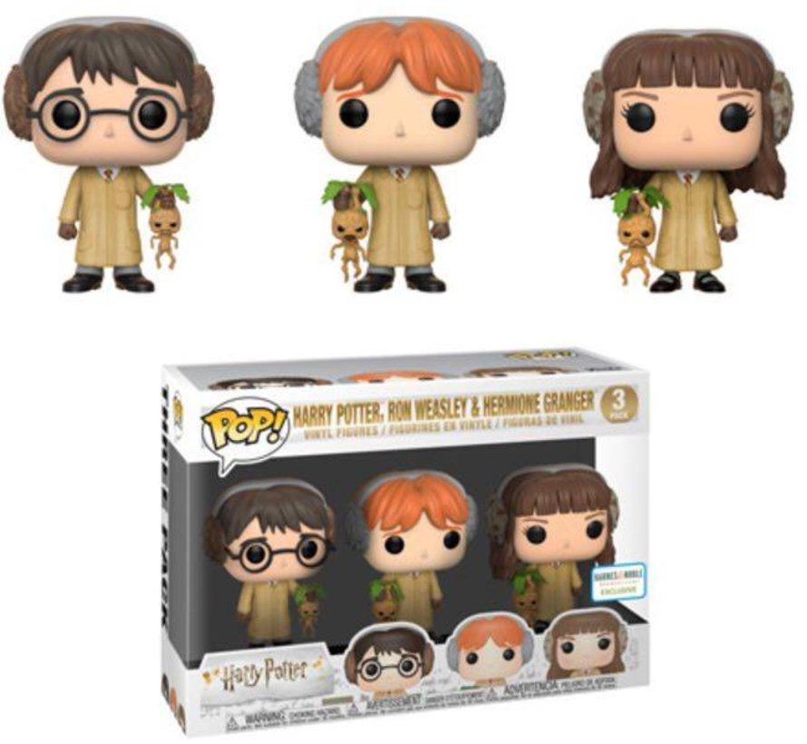 Harry Potter, Ron Weasley, Hermione Granger Herbology 3-Pack - Box Damage  - Harry Potter - Barnes & Noble Exclusive - Funko POP!