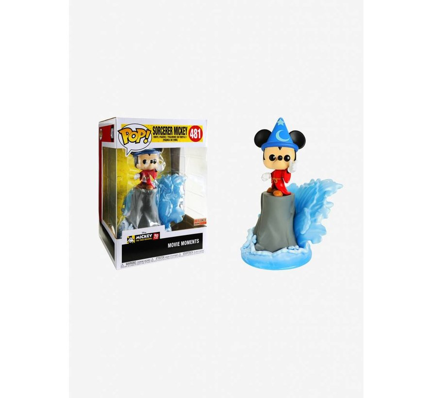 Fantasia Sorcerer Mickey Movie Moment #481  - Disney - BoxLunch Exclusive - Funko POP!