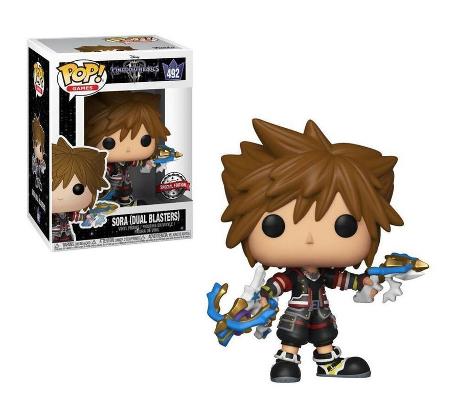 Sora (Dual Blasters) #492 Limited Editie - Kingdom Hearts - Disney - Funko POP!
