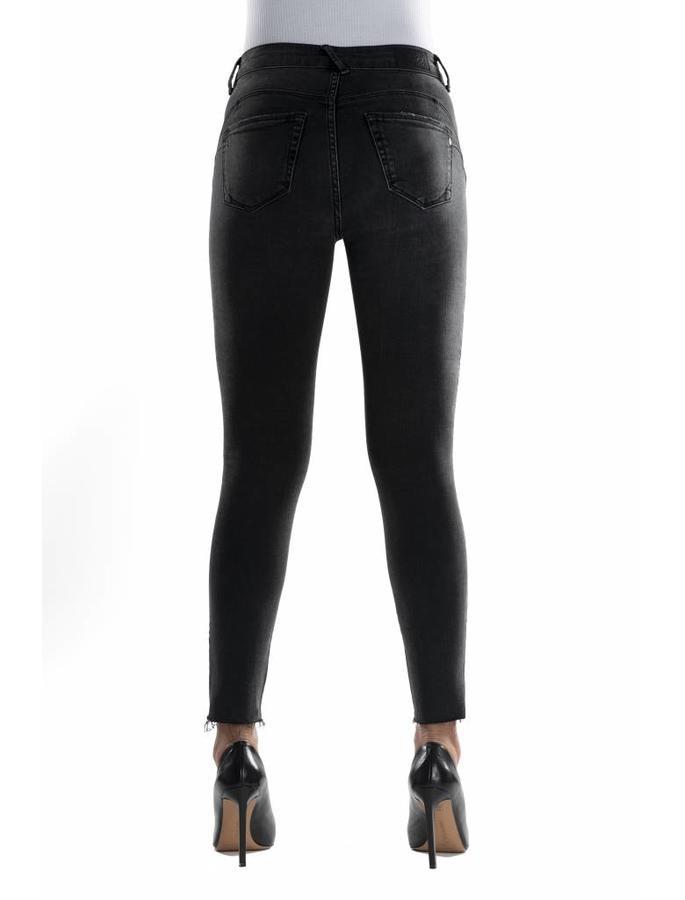 C.O.J. Fashion Denim Stella Raw Edge Black