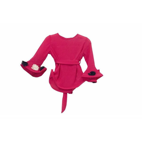 blouse met volantmauwen