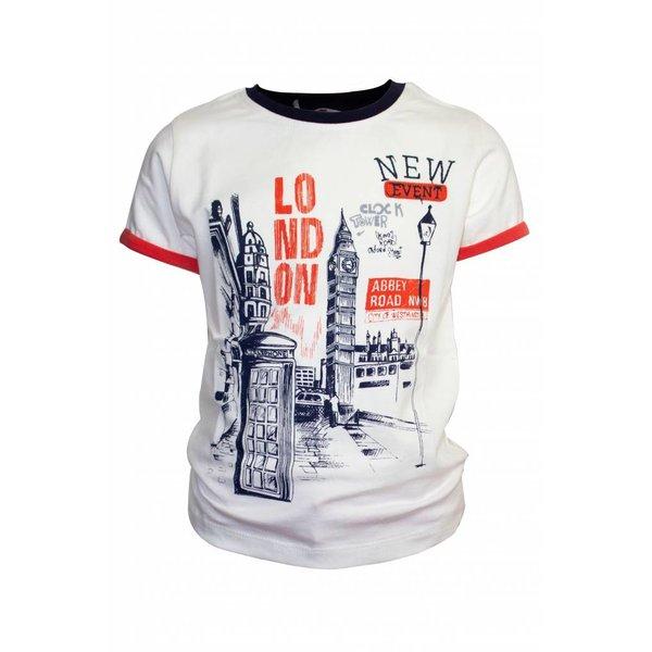 Witte T-shirt met tower print