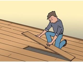 Een Laminaat plank of PVC strook vervangen