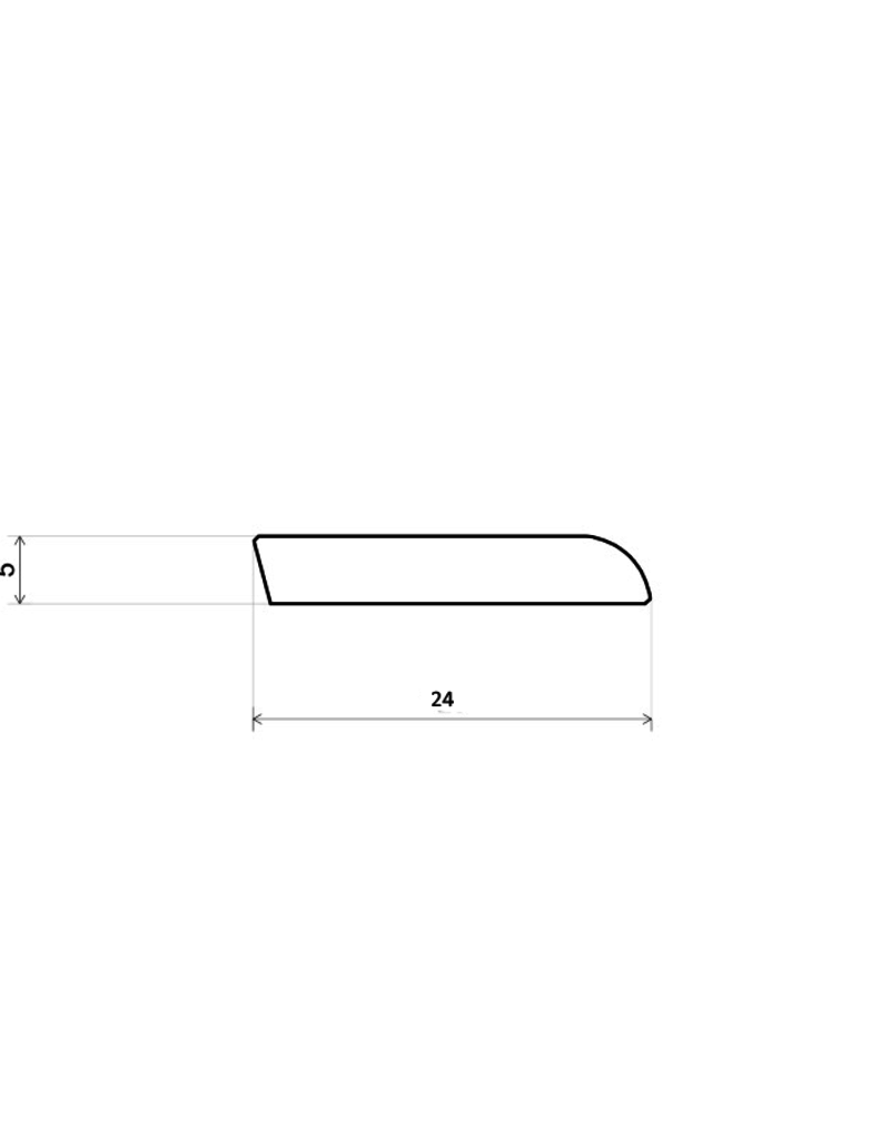 Engelse eiken lichtgrijze plakplinten voor laminaat