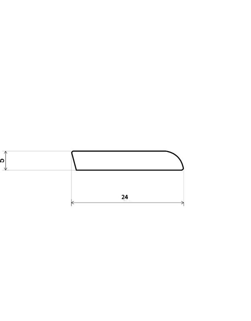 Wit RAL 9001 plakplint voor laminaat