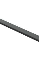 Zwarte hoogglans plakplint voor laminaat