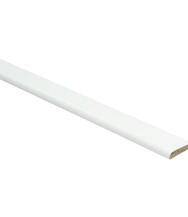 Hoogglans witte plakplint voor laminaat