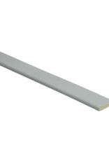 Minimal lichtgrijze plakplint voor laminaat
