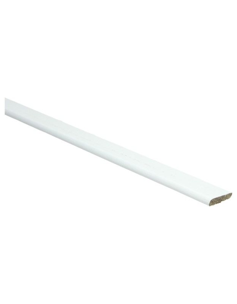 Wit RAL 9016 plakplint voor laminaat
