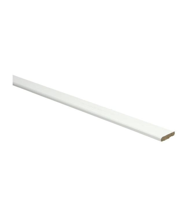 Wit RAL 9010 plakplint voor laminaat