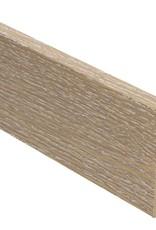 eiken wit ceruse rechte hoge plint voor laminaat, pvc en parket