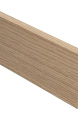 eiken rechte hoge plint voor laminaat, pvc en parket
