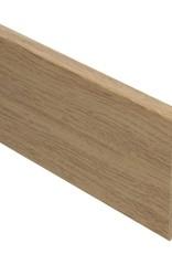 eiken licht rechte hoge plint voor laminaat, pvc en parket