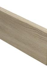 eiken wit geolied rechte hoge plint voor laminaat, pvc en parket
