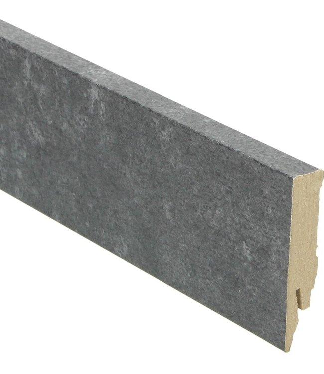 metallic slate rechte hoge plint voor laminaat, pvc en parket