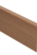 kersen donker rechte hoge plint voor laminaat, pvc en parket