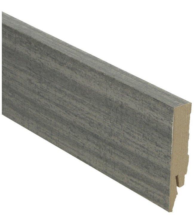 country eik grijs rechte hoge plint voor laminaat, pvc en parket