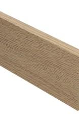 eiken naturel rechte hoge plint voor laminaat, pvc en parket