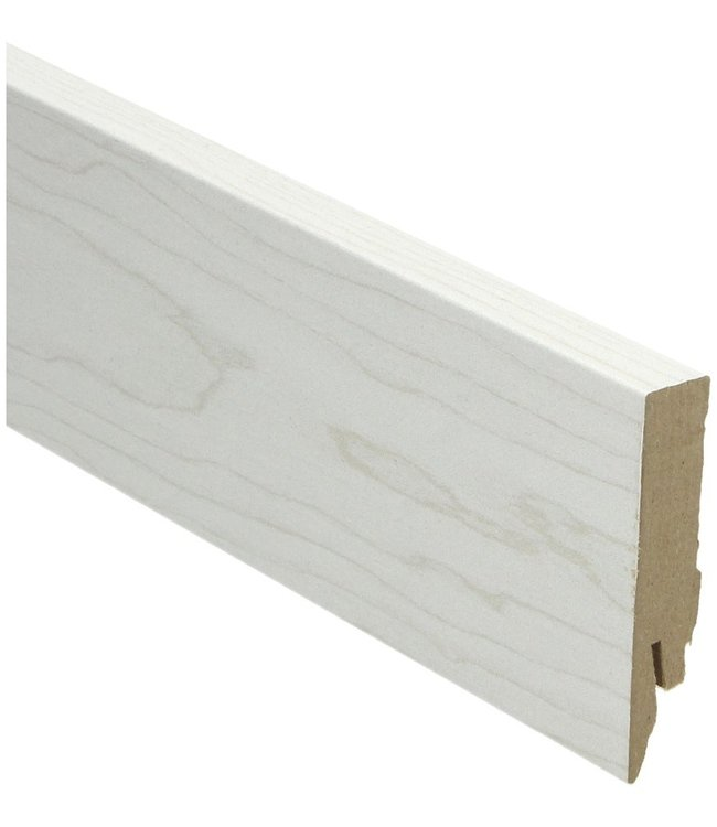 elzen wit rechte hoge plint voor laminaat, pvc en parket