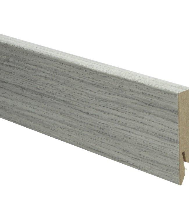 newcastle eiken grijs rechte hoge plint voor laminaat, pvc en parket